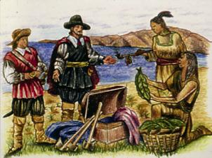 Scoperta del tabacco - Cristoforo Colombo