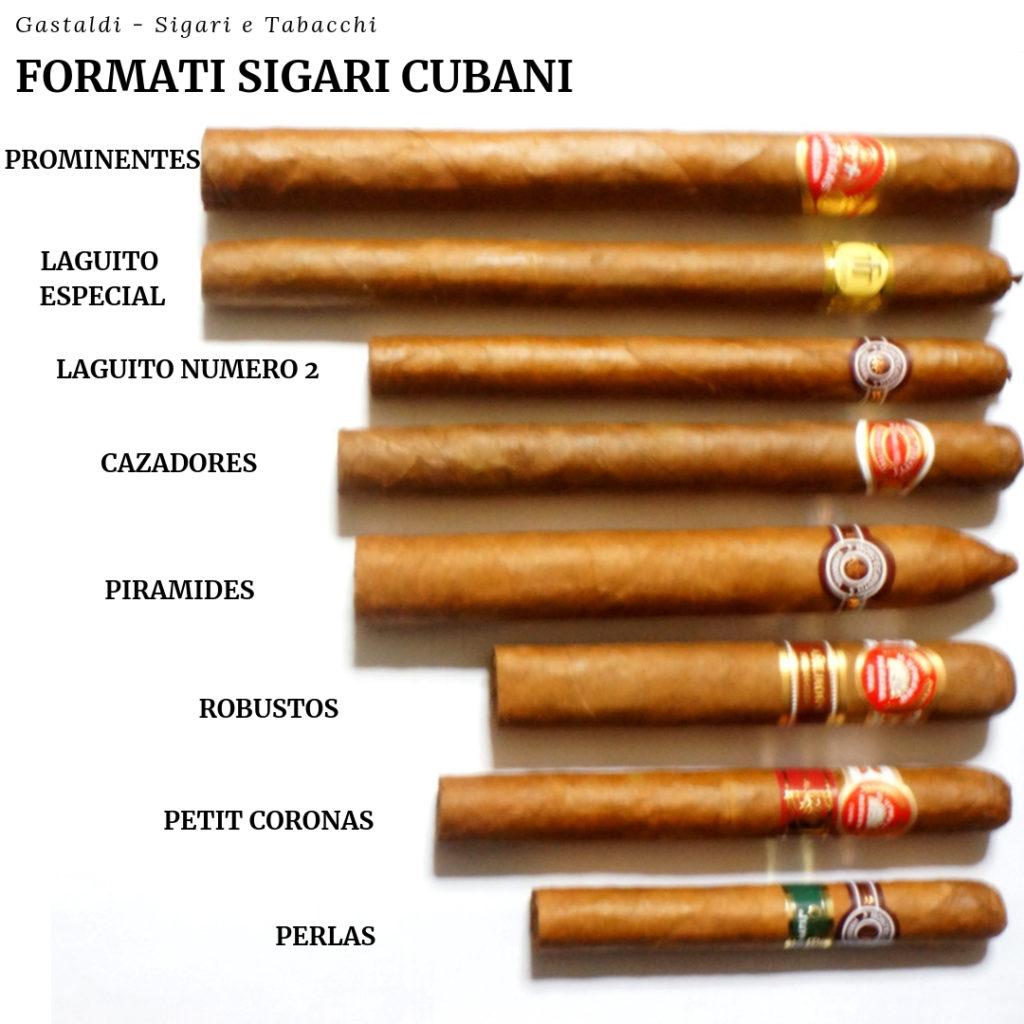 Tipi di sigari cubani